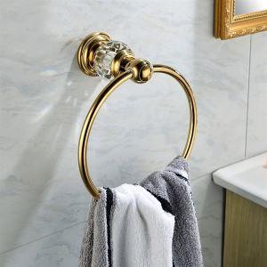 浴室タオルリング バスアクセサリー&クリスタル タオル掛け タオル収納 壁掛けハンガー バス用品 Ti-PVD BA886160