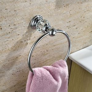 浴室タオルリング バスアクセサリー&クリスタル タオル掛け タオル収納 壁掛けハンガー バス用品 クロム BA886260
