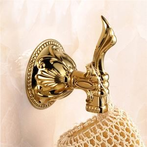 タオルフック 帽子服掛けフック 壁掛けフック 収納フック 壁掛けハンガー バスアクセサリー 金色