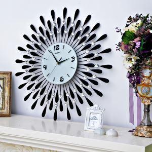 時計 壁掛け時計 静音時計 個性的 ブラック