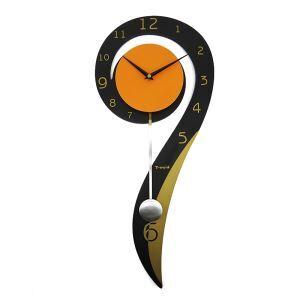 時計 壁掛け時計 振り子時計 静音時計 9型 個性的