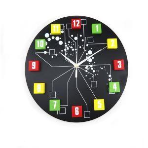 時計 壁掛け時計 静音時計 木製数字 個性的