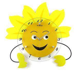 時計 壁掛け時計 静音時計 太陽型 子供屋 創意