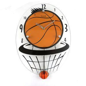 時計 壁掛け時計 静音時計 バスケットボール型 個性的