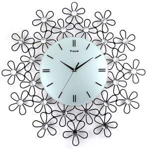時計 壁掛け時計 静音時計 花型 子供屋 個性的