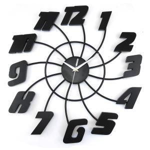 時計 壁掛け時計 静音時計 ブラック 創意