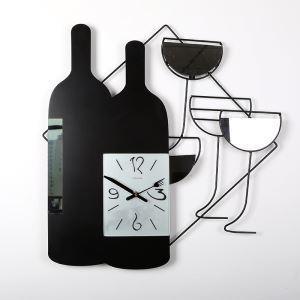 時計 壁掛け時計 静音時計 ワイン瓶 創意