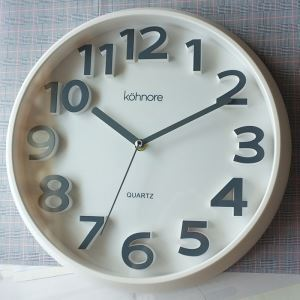 時計 壁掛け時計 静音時計 現代的 PVC 立体数字