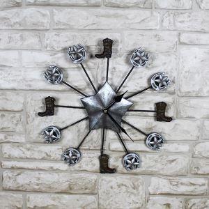 時計 壁掛け時計 静音時計 靴 星 田舎風 創意