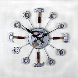 時計 壁掛け時計 静音時計 ハンマー 創意