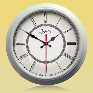時計 壁掛け時計 静音時計 北欧 銀色