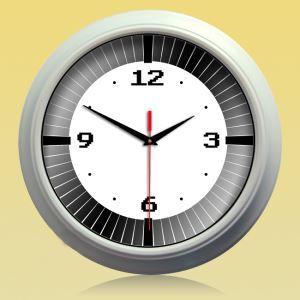 時計 壁掛け時計 静音時計 北欧 銀色インテリア