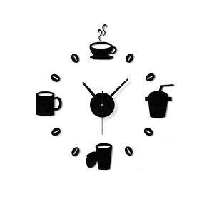 時計 壁掛け時計 静音時計 DIY時計 コーヒー ジュース 創意