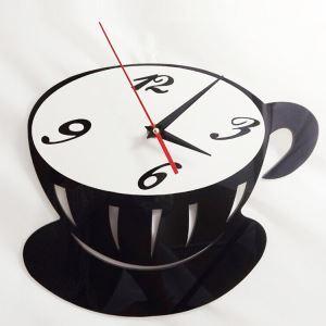 時計 壁掛け時計 静音時計 ブラックカップ 創意