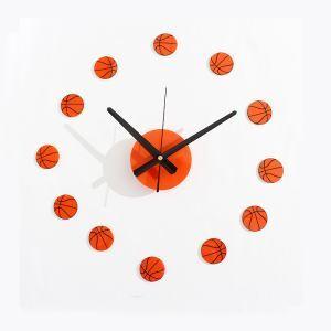 時計 壁掛け時計 静音時計 DIY時計 バスケットボール