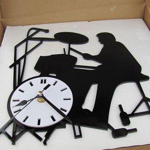 時計 壁掛け時計 静音時計 ドラム♪ 創意