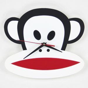 時計 壁掛け時計 静音時計 アニマル時計 猿 monkey