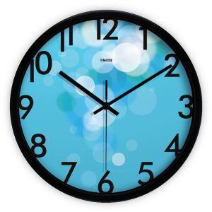 時計 壁掛け時計 静音時計 泡 ブルー 現代的