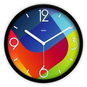時計 壁掛け時計 静音時計 抽象 カラフル