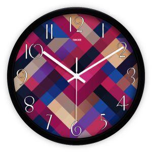時計 壁掛け時計 静音時計 抽象 縞 現代