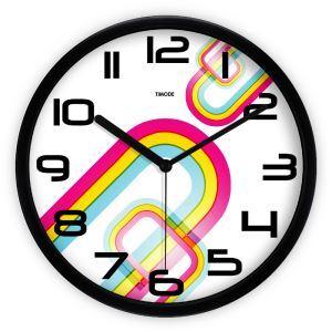 時計 壁掛け時計 静音時計 抽象 芸術 カラフル