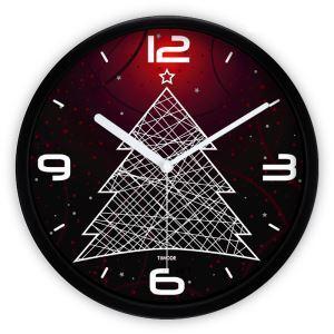時計 壁掛け時計 静音時計 クリスマスツリ— 子供屋