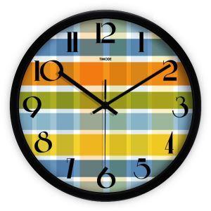 時計 壁掛け時計 静音時計 抽象 カラフル 芸術
