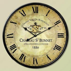 時計 壁掛け時計 静音時計 北欧 地中海風 鉄製