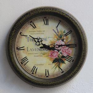 時計 壁掛け時計 静音時計 北欧 花柄 インテリア