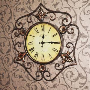 時計 壁掛け時計 静音時計 北欧 レトロ 鉄製