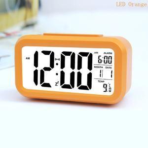 時計 置き時計 目覚まし時計 デジタル時計 LED時計 PVC