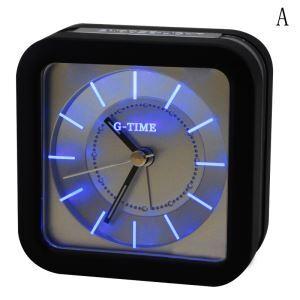 時計 置き時計 目覚まし時計 LED時計 PVC