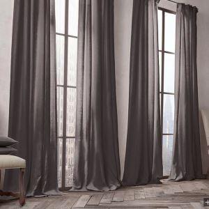 遮光カーテン 北欧カーテン 無地柄 麻&綿 3級遮光カーテン(1枚)