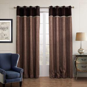 遮光カーテン 北欧カーテン ブラウン ポリエステル&綿 3級遮光カーテン(1枚)
