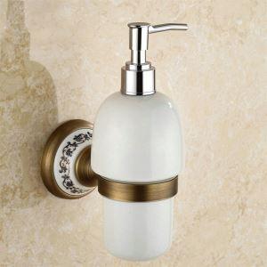 浴室ソープディスペンサーホルダー バスアクセサリー ブラス色 真鍮製