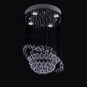 シーリングライト 天井照明 クリスタル照明 華やか 円形 4灯