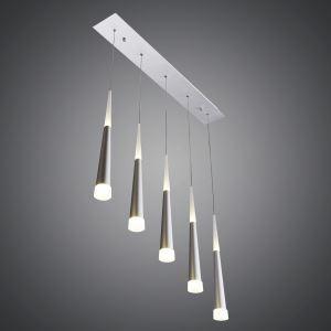 LEDペンダントライト 天井照明 アクリル照明 方形 5灯