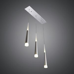 LEDペンダントライト 天井照明 アクリル照明 方形 3灯