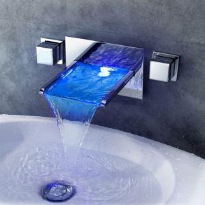 3色LEDバス蛇口 洗面水栓 温度センサー付