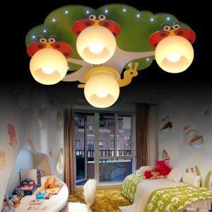 LEDシーリングライト 天井照明 子供屋照明 ナナホシテントウムシ型 4灯