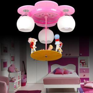 LEDシーリングライト 天井照明 子供屋照明 メリーゴーランド型 3灯