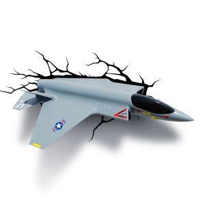 3D壁掛けライト 3Dデコライト ウォールランプ 壁掛け照明 飛行機型