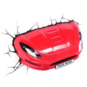 3D壁掛けライト 3Dデコライト ウォールランプ 壁掛け照明 レッドスポーツカー型
