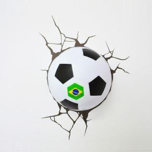 3D壁掛けライト 3Dデコライト ウォールランプ 壁掛け照明 ブラジル大会