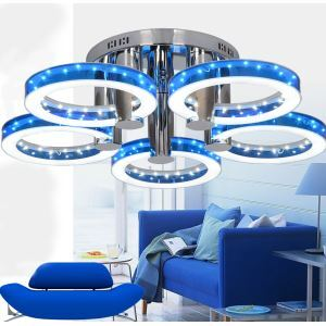 LEDシーリングライト 照明器具 天井照明 リビング照明 寝室 店舗 オシャレ LED対応 4色 5灯