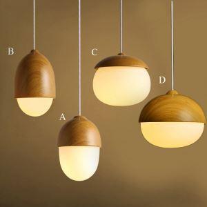 ペンダントライト 天井照明 北欧風照明 照明器具 玄関照明 ナッツ型 和風 1灯 PLMS89055
