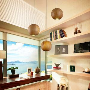 LEDペンダントライト 天井照明 北欧風照明 木製照明 1灯/3灯