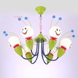 LEDペンダントライト 子供屋照明 天井照明 アニマル照明 ミツバチ型 4灯/6灯