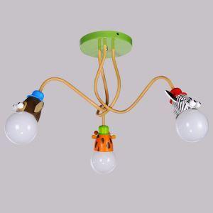 シーリングライト 天井照明 子供屋照明 アニマル照明 3灯
