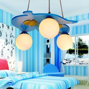 LEDペンダントライト 天井照明 子供屋照明 葉型 3灯